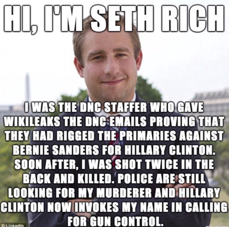 Image result for Seth Rich was alive at the hospital