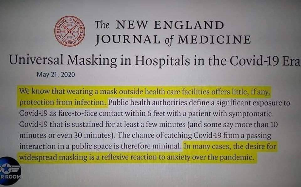 Universal Masking in Hospitals in the Covid-19 Era
