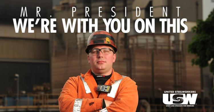 Image result for nr president we're with you on this steel