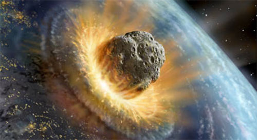 Image result for Meteor striking earth