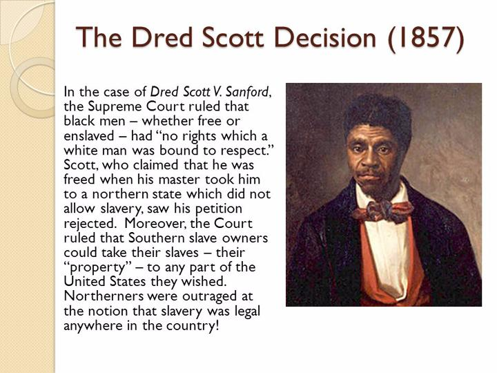 a history of the dred scott decision of 1865 in the united states Includes a detailed timeline of lincoln's life - photos of lincoln and all the major personalities from the civil war - info on the battle of gettysburg, kansas-nebraska act, dred scott decision - and the words of lincoln, his speeches, letters, war orders, proclaimations.