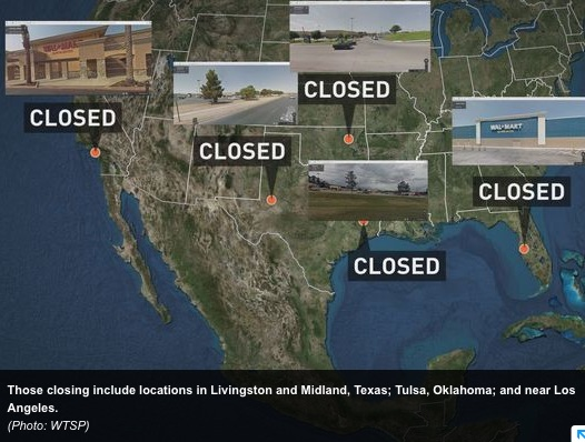 Intel On What Is Happening At The Closed WalMart Stores A Map - Map of walmart locations in us
