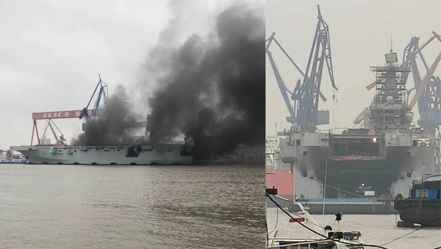 Chinese Warship Explodes In Flames After Shocking Research Finds Fluoridated Water Causes Coronavirus To Extinguish Oxygen